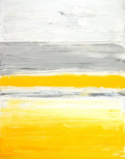 Grey and Yellow Lines Abstract Art Painting Mural Wallpaper