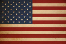 Grunge American Flag Wallpaper Mural