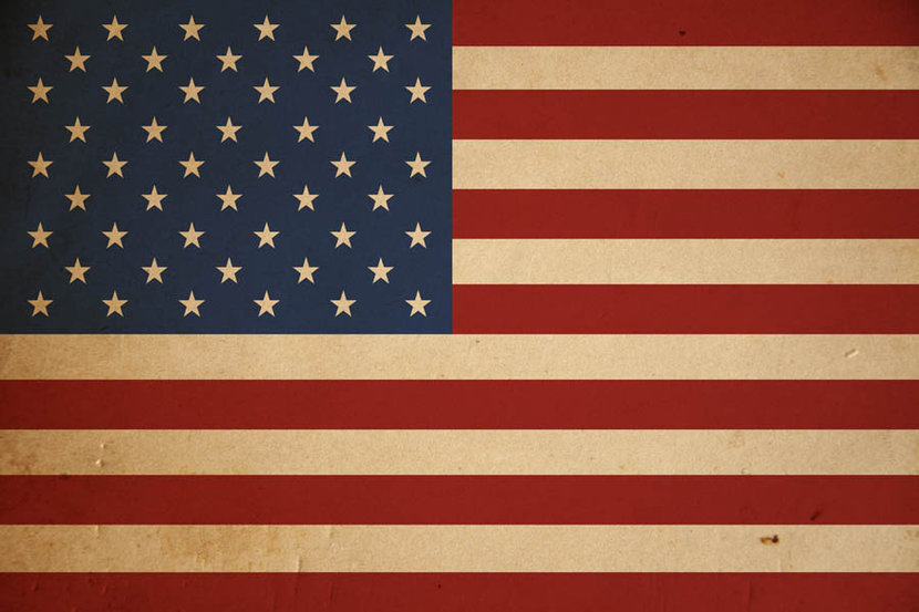 American flag wallpaper with a grunge texture background