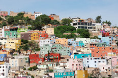 Guanajuato, Colorful Town in Mexico Mural Wallpaper