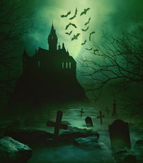 Halloween Castle Mural Wallpaper