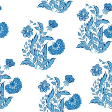 Hand Drawing Of Flowers Wallpaper