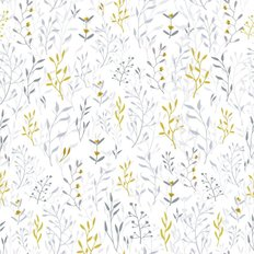 Hand Drawn Floral Pattern Wallpaper