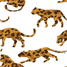 Hand Drawn Leopard Pattern Wallpaper
