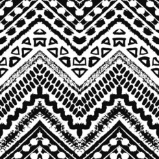 Vintage Zigzag Pattern Wallpaper