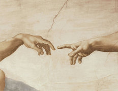 Hands Of God And Adam Wallpaper Mural