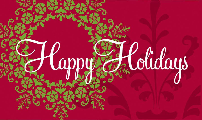 Happy Holidays - Red Wall Mural
