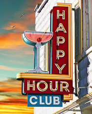 Happy Hour Club Wall Mural