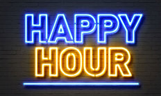 Happy Hour Neon Sign Wall Mural