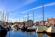 Ships In The Harbor, The Netherlands Wallpaper Mural