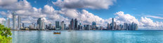 Harbor City Skyline Panorama Wall Mural