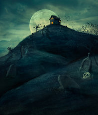 Haunted House On The Hill Wall Mural