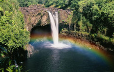Hawaii Rainbow Falls Wall Mural