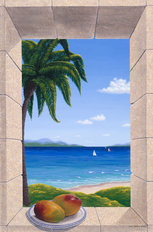 Hawaiian Fantasy With Mangos Wall Mural
