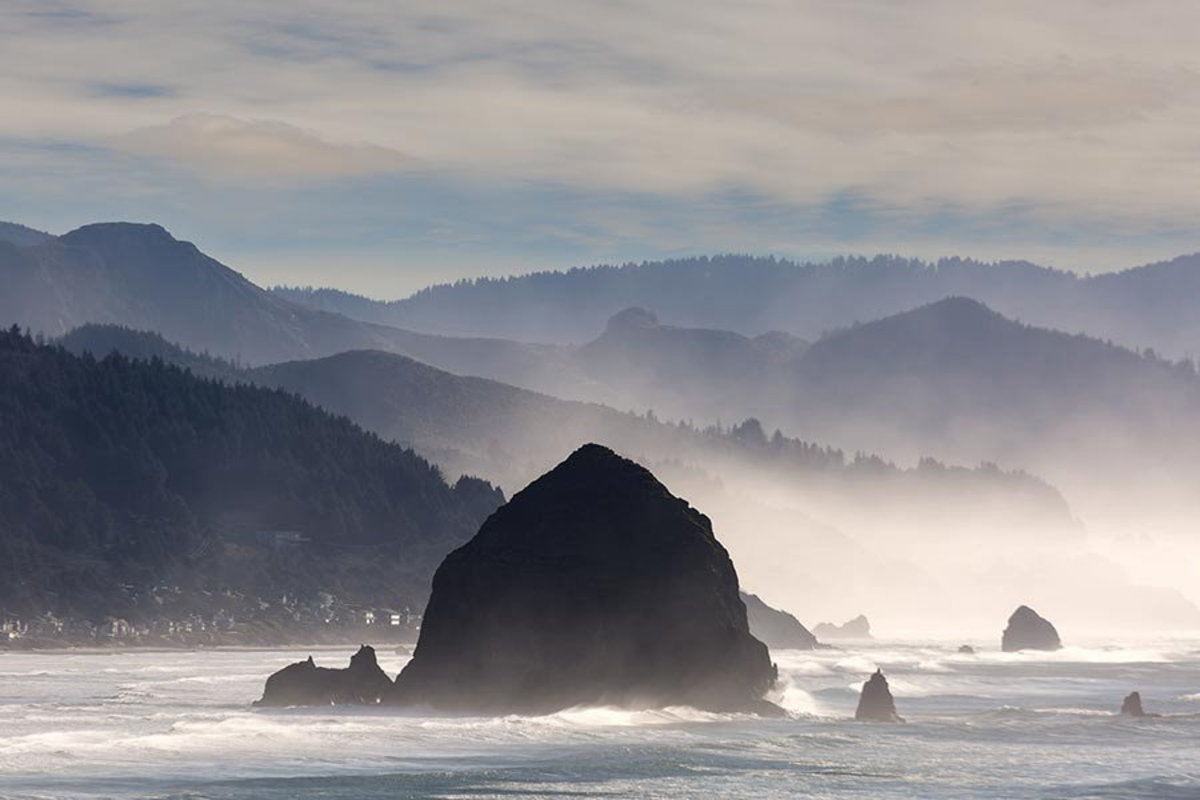 Haystack Rock in Cannon Beach Wallpaper Mural