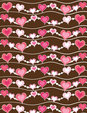 Heart Pattern - Wave Wallpaper
