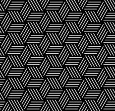 Hexagon Line Pattern Wallpaper