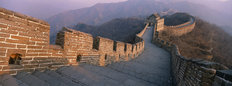 High Angle View Of The Great Wall Of China Wall Mural