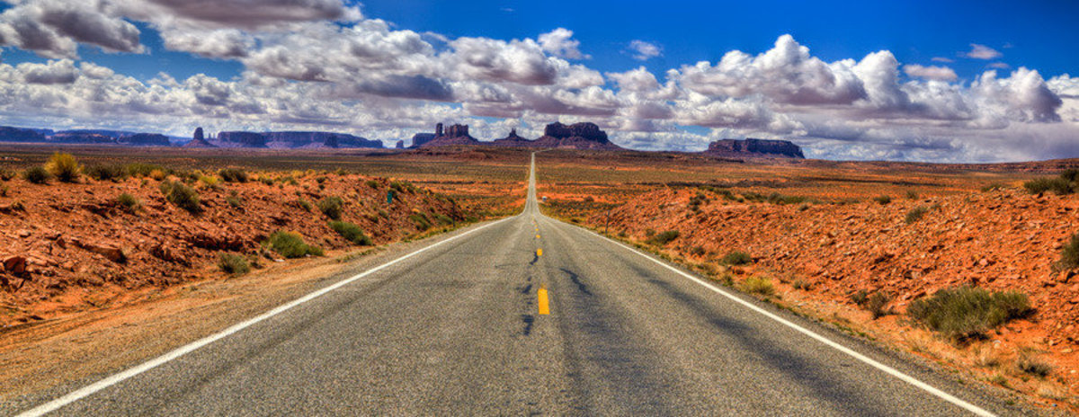 Highway To Monument Valley Wall Mural