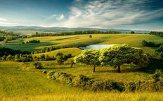 Hillside Landscape Wallpaper Mural