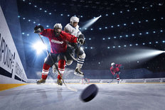 Hockey Collision Wallpaper Mural