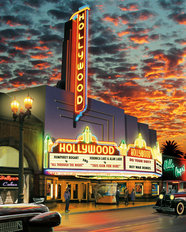 Hollywood Theater Mural Wallpaper