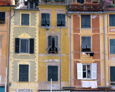 Homes In Village Of Portofino Mural Wallpaper