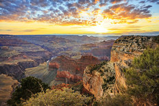 The Grand Canyon at Sunrise Mural Wallpaper