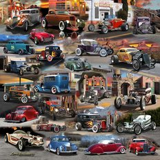 Hot Rod USA Wall Mural