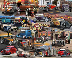 Hot Rodding USA Collage  Mural Wallpaper