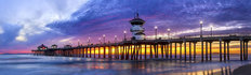 Huntington Beach Pier At Sunset Wall Mural