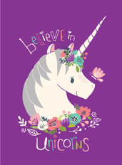 I Believe In Unicorns 2 Wall Mural