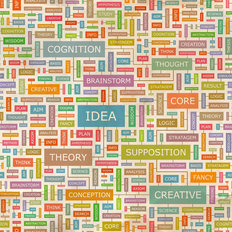 Idea Word Collage Wallpaper Mural
