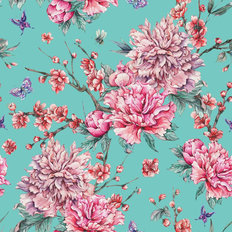 In Bloom Pattern Wallpaper