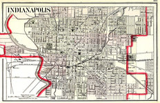 Indianapolis, IN 1884 Map Wall Mural