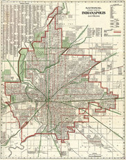 Indianapolis, IN 1921 Map Wallpaper Mural