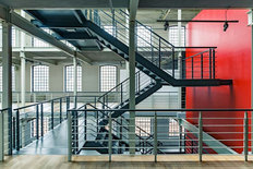 Industrial Metal Staircase Wall Mural