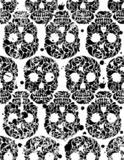 Ink Blot Skulls Wallpaper