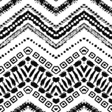 Inky Ethnic Pattern Wallpaper