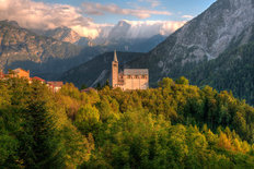 Italian Dolomites - Sentinel of Faith Wallpaper Mural