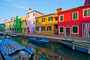 Italy Venice Burano Island With Traditional Colorful Houses Mural Wallpaper