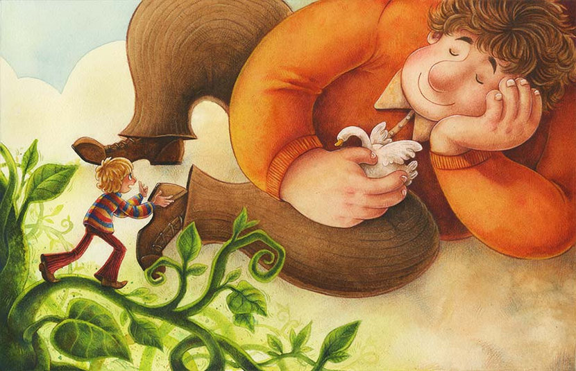 Jack and the Beanstalk Wall Mural