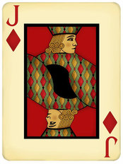 Jack Playing Card Mural Wallpaper