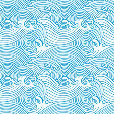 Japanese Waves Pattern Wallpaper