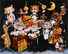 Jazz Sophisticats Mural Wallpaper