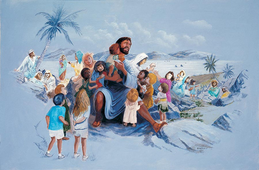 Jesus And The Children Wall Mural