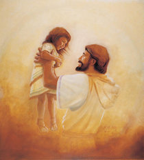 Jesus And The Girl Wall Mural
