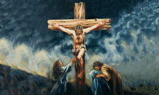 Jesus Dies On The Cross 2 Mural Wallpaper
