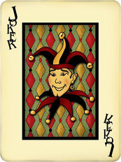 Joker Playing Card Wallpaper Mural