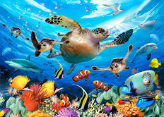 Journey of the Sea Turtles Wall Mural